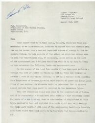 Official Copy Of Einstein's Atomic Bomb Letter To Fdr Signed By Edward Teller