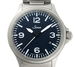 [oh] Sinn 856 Blue Japan Limited Edition 1/50 Tegimented Automatic Box And Paper