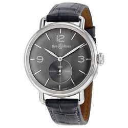 Bell And Ross Ww1 Argentium Automatic Grey Dial Men's Watch Brww1-me-ag-ru-s