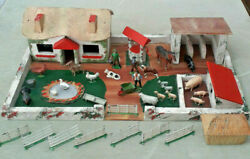 1953 Scratch Built Farm Set Lead And Cast Animals And Figures As Seen