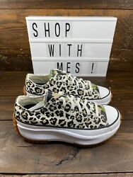 Converse Run Star Hike Low Leopard Brown Black White 170912c Womenand039s