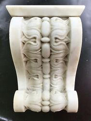 Antique Architectural Marble Fireplace Keystone - Reclaimed Salvage