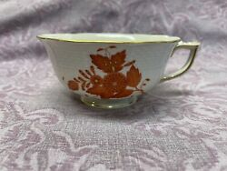 Herend Rust Chinese Bouquet Coffee Cup 4 1/8 Diameter 2 Tall