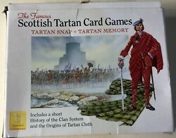 Double Pack Scottish Tartan Card Games Heritage Toy And Game Snap And Memory