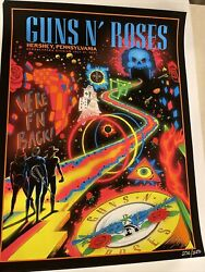 Guns And Roses Official Lithograph Hersheypark July 31 2021 73/250 Mint Conditio