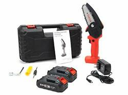 Sawsavvy Mini Chainsaw | Upgraded Cordless Electric One Hand Power Chain Saws |
