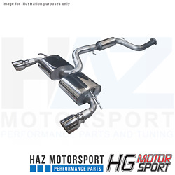 Hg Motorsport Bull-x 3andrdquo Catback Y-style Exhaust System For Ford Focus St Mk2
