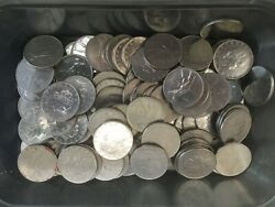 Collection Of 100 X 50 Lire Italy Italia Pre-euro Coins, Mixed Dates