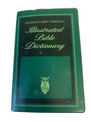 Vtg Nelson's New Compact Illustrated Bible Dictionary 1978 Green Vinyl Cover Owl