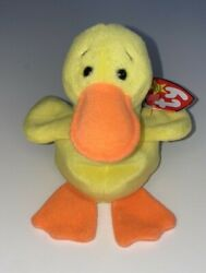 Retired Ty Beanie Baby Quackers Duck Errors With Tags Rare Mint Pvc