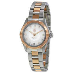 Tag Heuer Aquaracer Mop Dial Stainless Steel And 18kt Rose Gold Ladies Watch