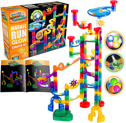 Marble Run Marbles For Kids Genius Glow Starter Set 115 Complete Pieces