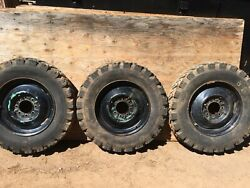 """3 Kelsey Hayes 19.5x 5.25"""" Tubeless Rims With Tires"""