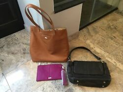 3 Thirty One Jewell Women#x27;s Purse Lot Pebbled Faux Leather Bags Wristlet Tote $25.00
