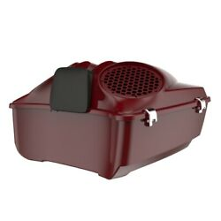 Billiard Red Dual 8and039and039 Speaker Lids Fits Advanblack/harley King Tour Pak Pack