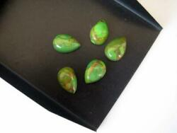 Natural Green Copper Turquoise Pear Cabochon Loose Gemstone 12x16mm To 18x25mm