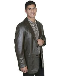 Scully Contemporary Lamb Blazer - Big And Tall Chocolate 50 R