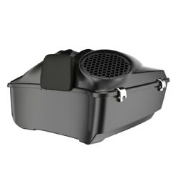 Black Pearl Dual 8and039and039 Speaker Lids Fits Advanblack/harley King Tour Pak Pack