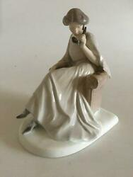 Bing And Grondahl Figurine Of Sitting Woman With Phone No 1706