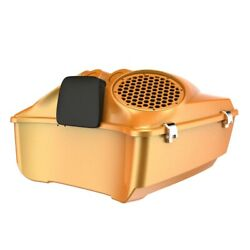 Hard Candy Gold Flake Dual 8and039and039 Speaker Lids Fits Advanblack/harley King Tour Pak