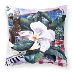 14 In. X 14 In. Multi-color Lumbar Outdoor Throw Pillow Barqs And Magnolia Decor