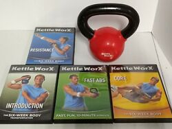 Kettleworx With 10 Lb Kettlebell Plus 4 Dvds. In Original Box. Kettle Bell Worx.
