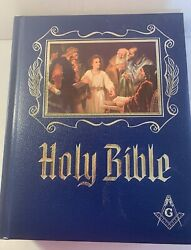 1964 Masonic Master Reference Edition Heirloom Red Letter Holy Bible Gilt C1