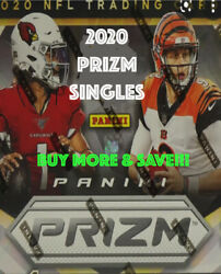 2020 Panini Prizm Football - Base And Rookies - You Pick Complete Your Sets