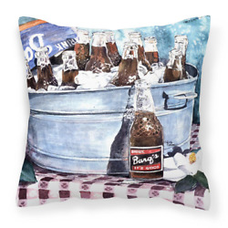 14 In. X 14 In. Multi-color Lumbar Outdoor Throw Pillow Barqs And Old Washtub De