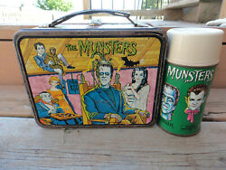 Original 1965 The Munsters Lunch Box And Thermos Set