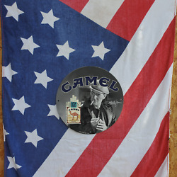 Vintage 1952 Camel Cigarettes And039and039john Wayneand039and039 Porcelain Gas And Oil Pump Sign