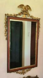 Friedman Brothers Vintage Federal Style Mirror Mahogany Gesso With Gold Paint
