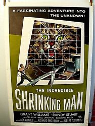 The Incredible Shrinking Man Original 1957 One Sheet Movie Poster Grant Williams