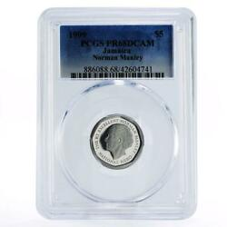Jamaica 5 Dollars N.w. Manley - Independence Pr68 Pcgs Proof Nickel Coin 1999