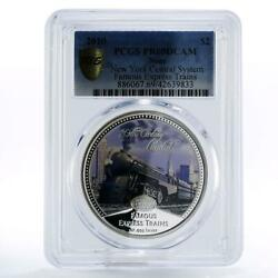 Niue 2 Dollars Famous Express Train Limited New York Pr69 Pcgs Silver Coin 2010