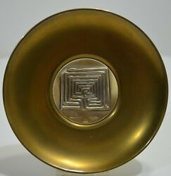 Cup Brass And Vermeil Silver 925 Signed Lalaounis Maze Minos