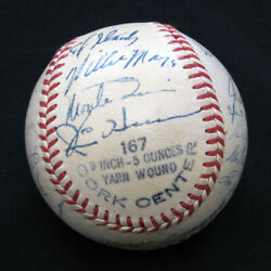 1951 New York Giants Team-signed Baseball With 26 Signatures/autographs W/mays