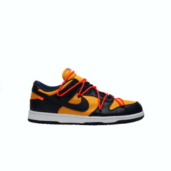 Nike X Off-white Dunk Low University Gold Midnight Navy Ct0856-700 Size 6-12