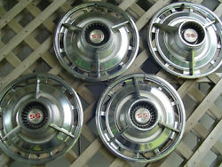 4 Vintage Classic 1963 1964 Chevrolet Chevy Ss Belair Impala Hubcaps Wheel Cover
