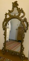 Waldorf, Antique Large Mirror, Gold, Baroque Style, Wood Frame, 34 X 66.2