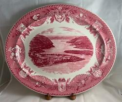 Wedgwood U.s. Military Academy Red West Point Large Serving Platter Rare