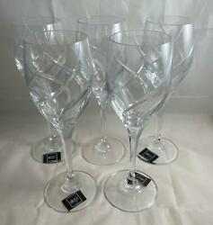 Set Of 5 Mikasa Crystal Olympus Water Goblets Discontinued