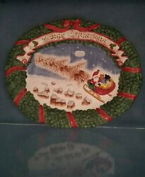 Fitz And Floyd Night Before Christmas Platter New In Box
