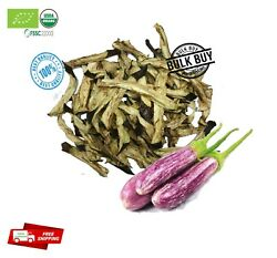 Dried Brinjal Strips 3-5cm Cut Eggplant Organic Pure Natural Best For Salad