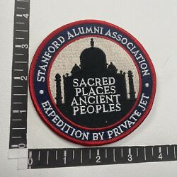Vtg Stanford Alumni Sacred Places Ancient People Private Jet Plane Patch 17n1