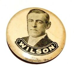 1912 Woodrow Wilson 7/8 Presidential Campaign Pin Pinback Button Badge Political