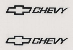 2x BOWTIE CHEVY 6quot; Black Decals Stickers for Truck Cars Windows Toolbox...