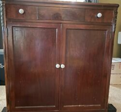 Antique John Widdocomb And Co Highboy Dresser / Chest Of Drawers With Doors