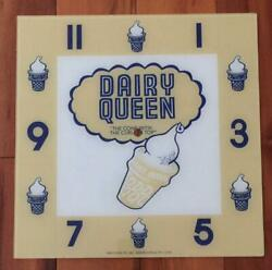 15 Dairy Queen Square Replacement Clock Face For Pam Clock Free Ship