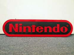 2.5 Ft Official Nintendo Logo Hanging Store Display Sign Promo Very Rare